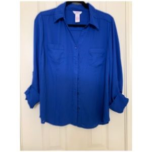Candies royal blue blouse